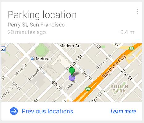 google-now-parking