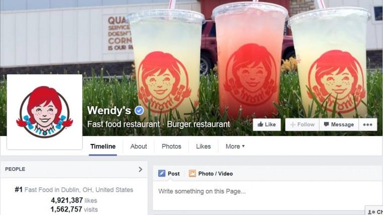 Wendy's facebook