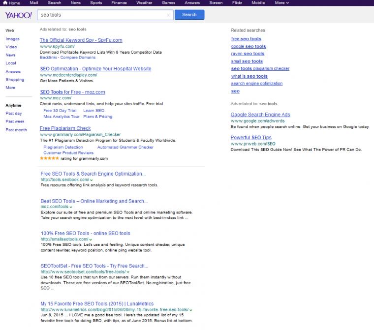 yahoo-serps-google