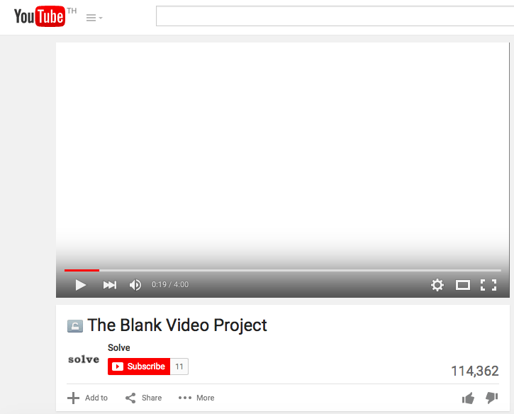 about blank youtube the blank video project 4. Black Bedroom Furniture Sets. Home Design Ideas
