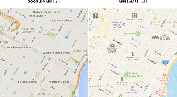 google and apple maps 8