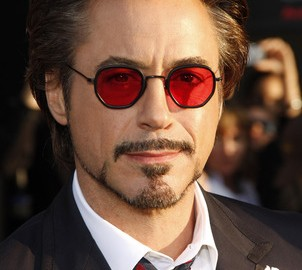 55769380 - robert downey jr at the los angeles premiere of 'iron man 2' held at the el capitan theater in hollywood on april 26, 2010.